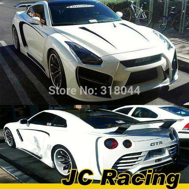 Unpainted FRP GT-R35 Auto Body Kits, Body styling Tunning Parts for NISSAN(front bumper&rear bumper&side skirt)