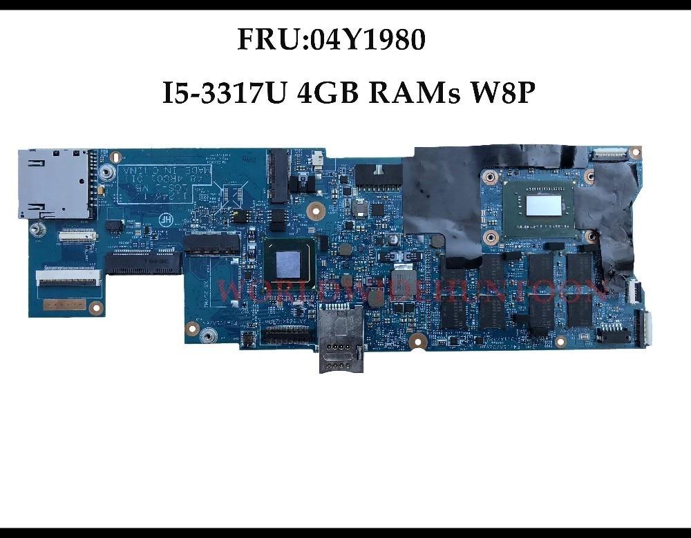 High Quality FRU:04Y1980 For Lenovo ThinkPad X1 Carbon Laptop Motherboard LGS-1 48.4RQ01.011 SR0N8 I5-3317U 4GB RAMs 100% Tested 100% new cpu sr0n8 i5 3317u sron8 i5 3317u bga chipset