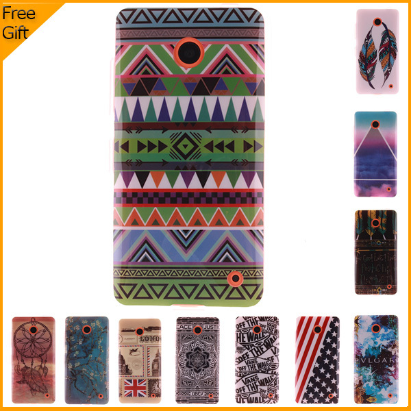 Luxury Owl Cartoon Painted Mobile Phone Case Cover For Nokia Lumia 630 Dual Sim 635 Cover Silicone Soft Gel Shell Back Cover
