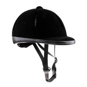 Image 2 - Casque déquitation velours cavalier équestre sécurité tête chapeau protecteurs de corps équipement déquitation pour enfants enfants 48 54cm