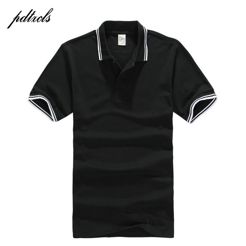 2018 PDTXCLS Men's   Polo   Shirt For Men Desiger   Polos   Men Cotton Short Sleeve shirt Clothes jerseys golftennis Plus Size XS- XXXL