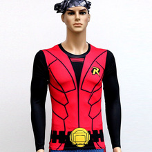 Robin Man's Quick Dry Anti Ultraviolet Long Sleeve T-Shirt Sweat Tight Clothe Outdoor Cycling Suit Sportswear Bicycle Clothing