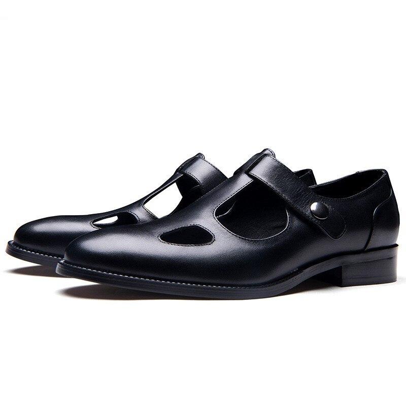 Genuíno Escritório Homem Sapatos de Trabalho Respirável
