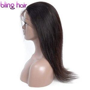Image 3 - Bling włosy 360 koronka Frontal zamknięcie brazylijski proste 100% Remy ludzki włos uzupełnienie splotu ludzkich włosów z dzieckiem włosy darmo częścią naturalna linia włosów