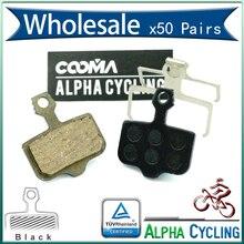 Bicycle Disc brake Pad for AVID Elixir R, CR, CR Mag, 1/3/5/7/9, X.0, XX Disc Brake, Resin Black, 50 Pairs, BP001