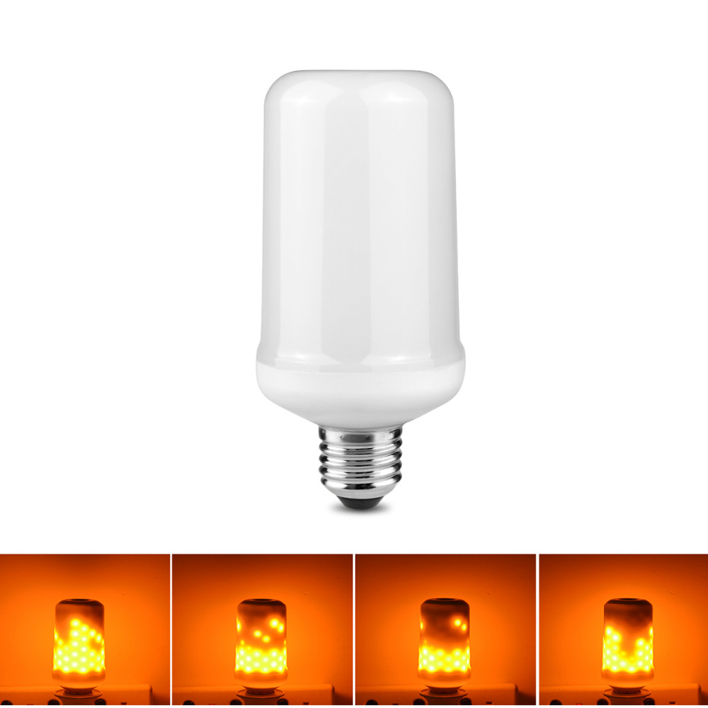 Dynamic Flame Effect E27 LED Corn Bulb Lamps 3 Modes Emulation Fire Burning Flicker Lantern Holiday Decorate light