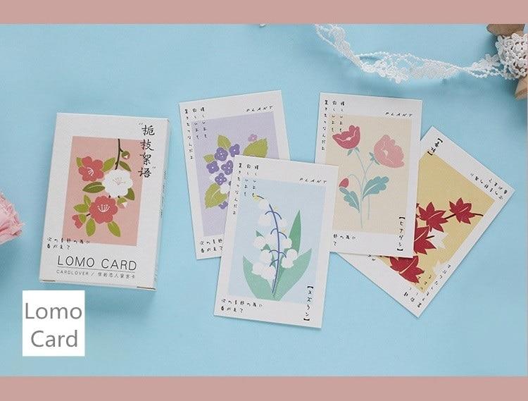 28 Sheets/Set Flowers Plants Series Lomo Card Mini Paper Postcard/Greeting Card/Birthday Gift Card