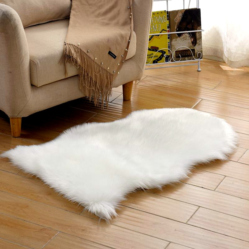 Urijk Soft Artificial Sheepskin Rug Carpet Chair Cover Artificial Wool Warm Hairy Carpets For Living Room Skin Fur Area Rugs