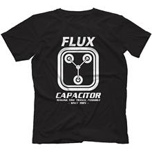 Flux Capacitor Back To The Future T-Shirt 100% Cotton Delorean Marty jacket croatia leather tshirt denim clothes camiseta tshirt(China)