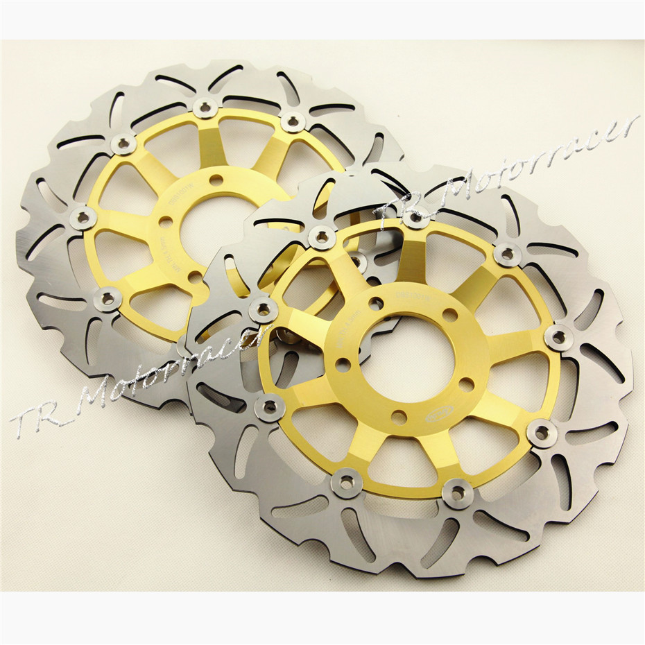 Motorcycle Front Brake Disc Rotors for Suzuki GSF 600 Bandit 2000-2004 & SV650 1999-2000  GSX 750F Brake Disks 2000 2001 2002  motorcycle front brake disc rotor for suzuki gsx 600 f 1989 1990 gsx 750 f katana 1998 1999 2000 2001 2002 2003 gold