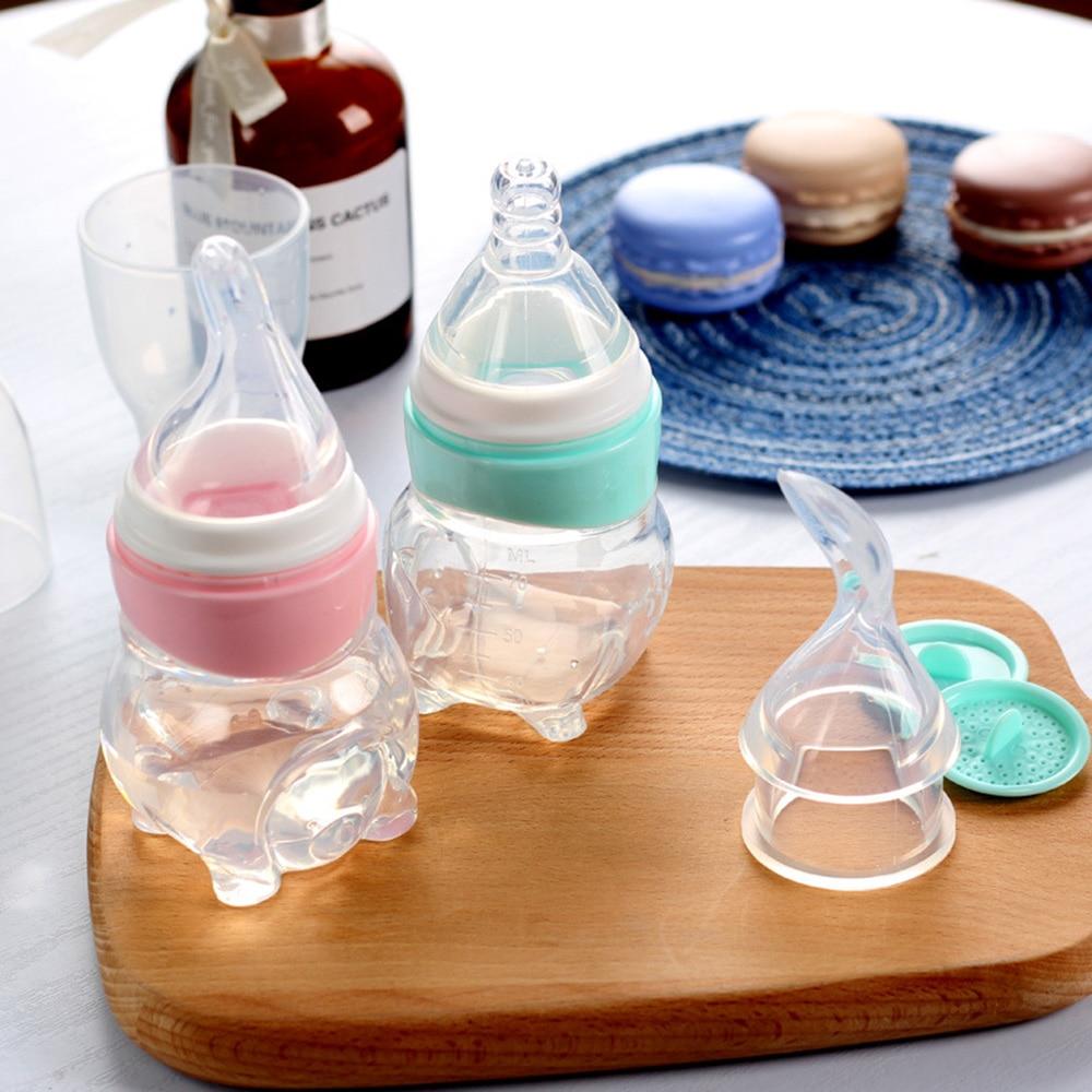 Baby Silikon Löffel Kleinkind Medizin Obst Squeeze Feeder Nippel Typ Fütterung Abgabe Löffel PP Baby Utensilien Reis Getreide
