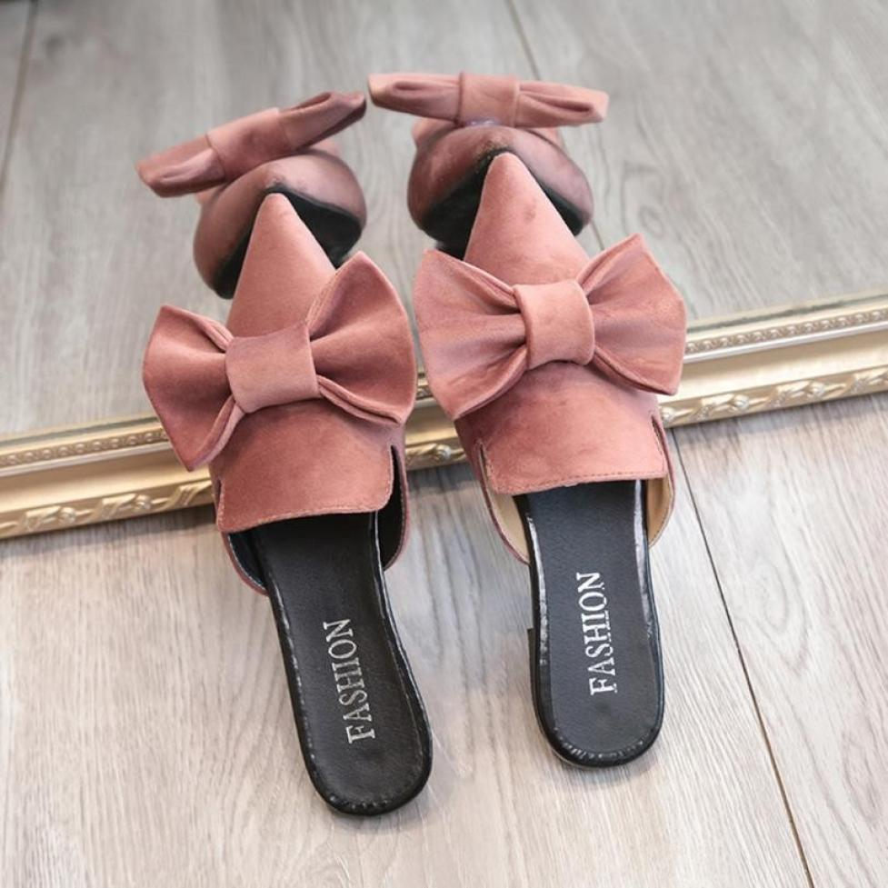 women s Pointed Toe Chunky Heels Mules Style Embroidery Flip Flops Summer  Slippers Casual Slip On Shoes a6d6a03334ca