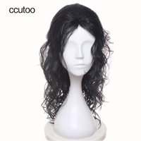 Ccutoo 24 Black Curly Styled Long Synthetic Hair Cosplay Full Wigs High Temperature Fiber
