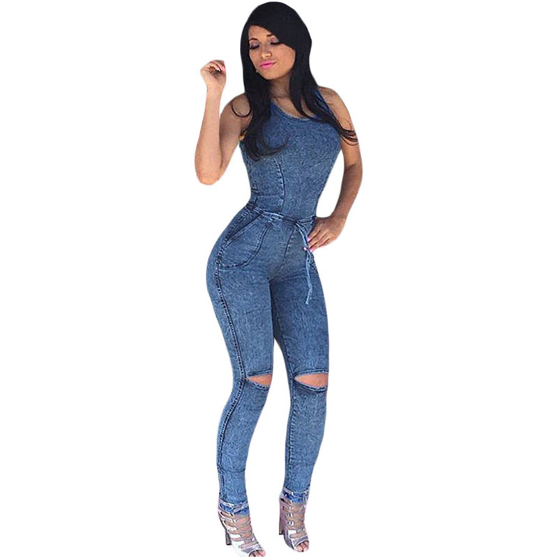 Popular Jean Jumpsuits-Buy Cheap Jean Jumpsuits lots from China ...