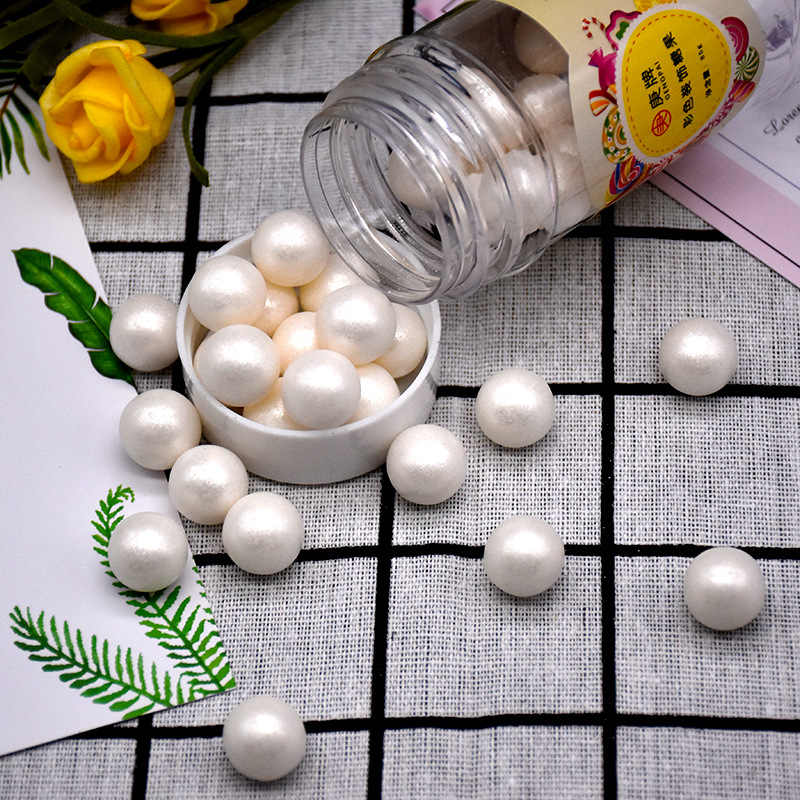 Fashion 85g/Box silver beads Edible pearl fondant DIY cake baking Silicone Chocolate decoration sugar candy fimo clay