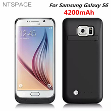 NTSPACE For Samsung Galaxy S6 edge Charging Case 4200mAh External Battery Charger Backup Power Cover