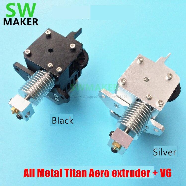 Imprimante 3D tout métal Prusa i3 Titan Aero extrudeuse 1.75mm universelle avec V6 hotend et moteur pour imprimante 3D Prusa i3 MK2