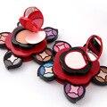 Sombra de ojos brillo paleta de sombra de ojos en polvo de maquillaje paleta de maquillaje polvo compacto fundación face powder acabado piel miss rose