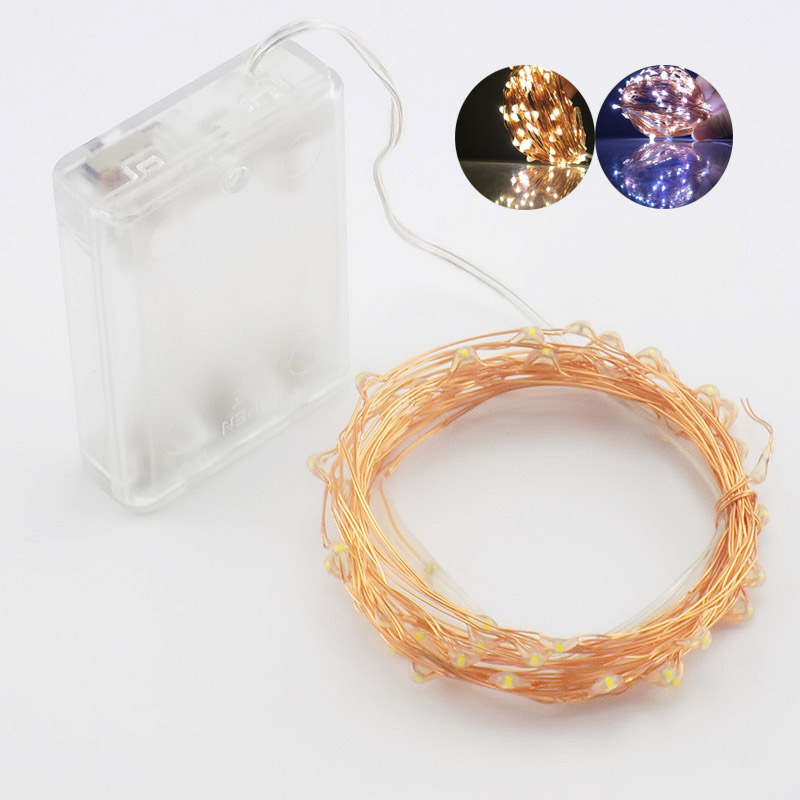 3XAA Battery LED String Lights For Wedding Decoration Home Christmas Tree Outdoor Xmas Garland Party LED Strip Fairy Lights