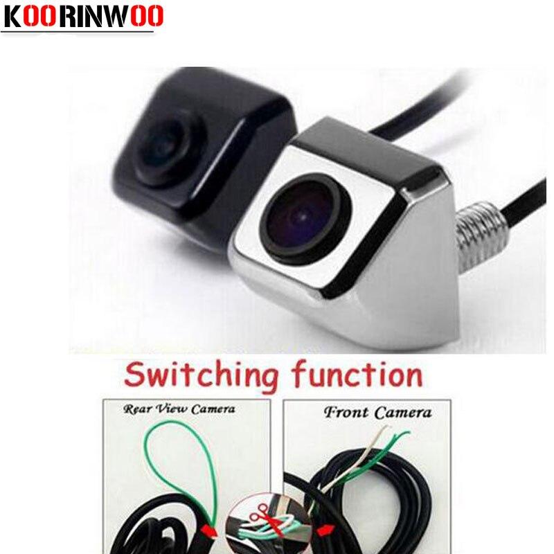 Универсальная автомобильная видеокамера Koorinwoo ccd для внедорожников/грузовиков, парковочная система заднего вида с датчиками