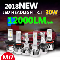 2*60W Canbus H1 H4 H7 H8 9005 H11 PSX24W Led Car Truck DIY Headlight Kits Automobile Bulb With ZES II Lumileds LUXEON Chip Lamps