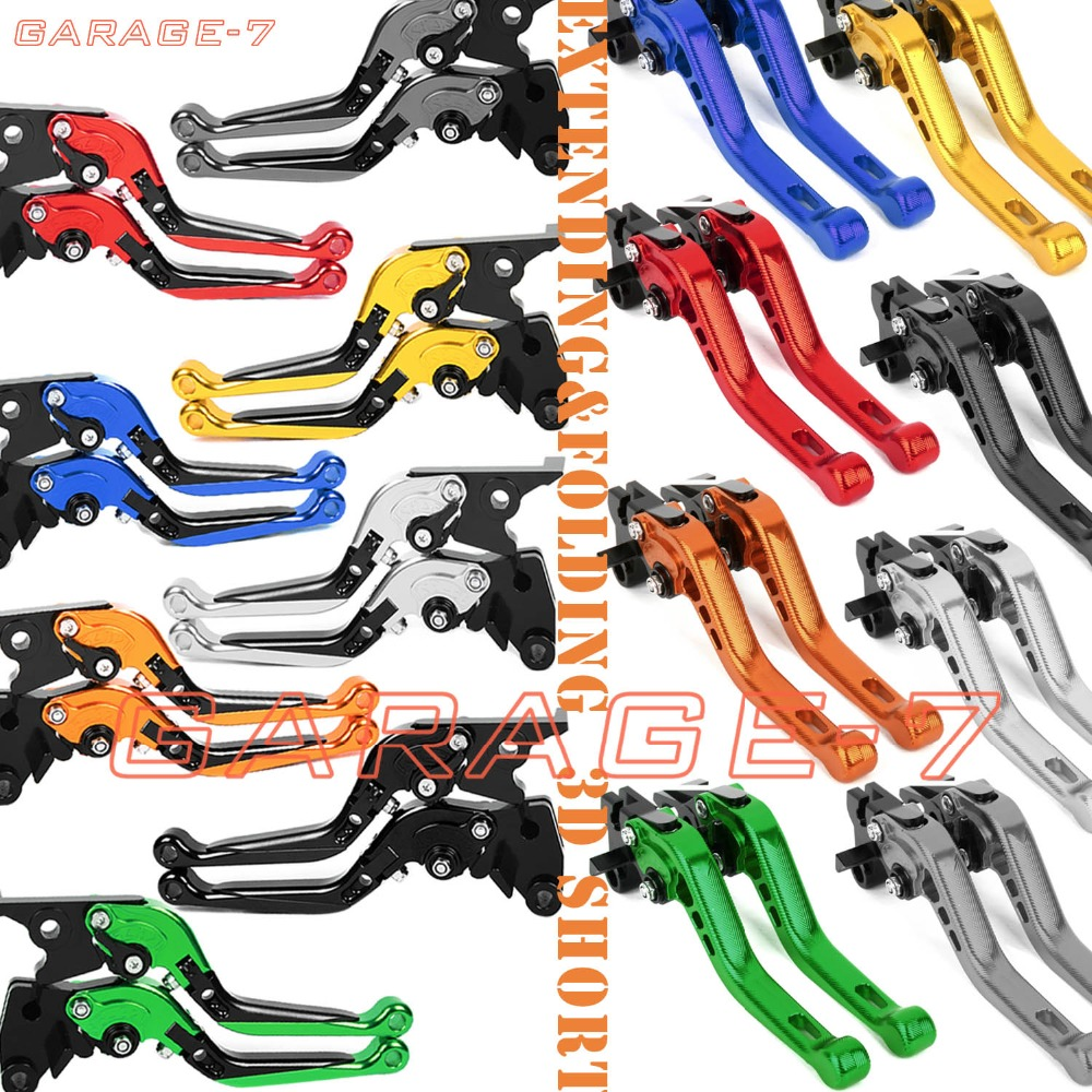 For KYMCO XCITING 250 300 500 400 Folding&Extending/3D Short CNC Adjuster Clutch Brake Levers Set 8 Colors fx cnc motorcycles folding extendable brake clutch levers aluminum for kymco downtown 125 200 300 350 xciting 250 300 500 400