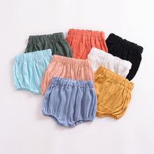 Summer Style Baby Girl Shorts Solid Color Baby Bloomers Bebe Diaper Cover Fashion Baby Boy Clothing For 0-2Y Children