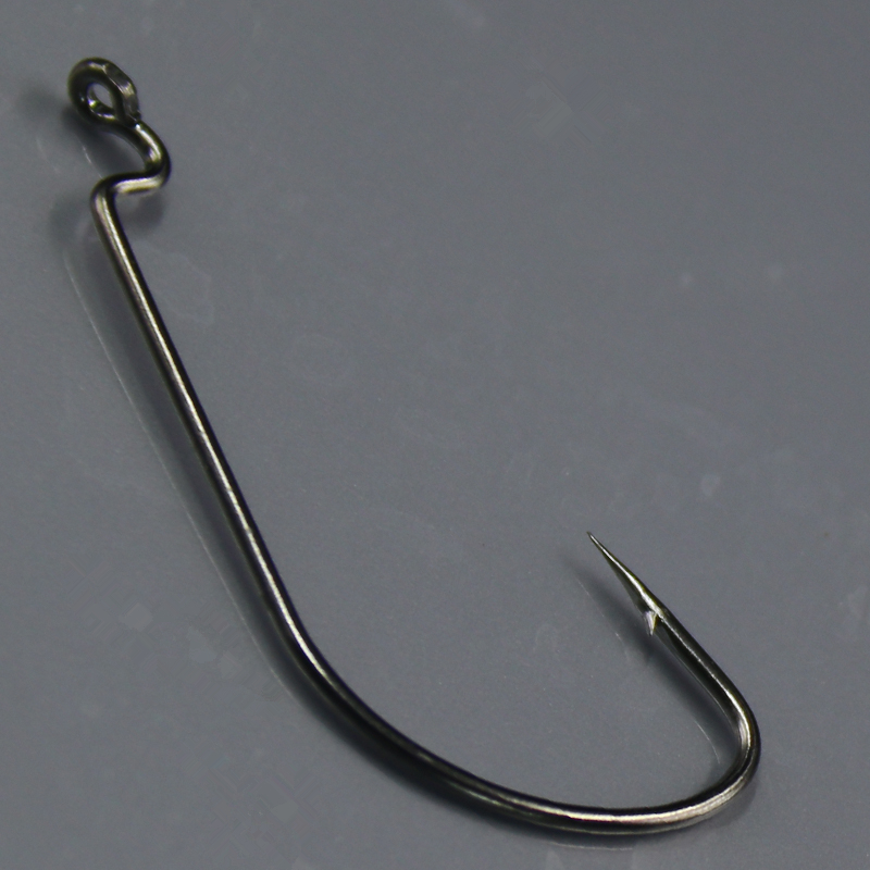 High carbon steel fishhooks new worm hooks barbed fishing for Barbed fishing hook