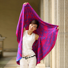 13 kinds of different colors double-sided 140cm diameter circle towel cape shawl national wind