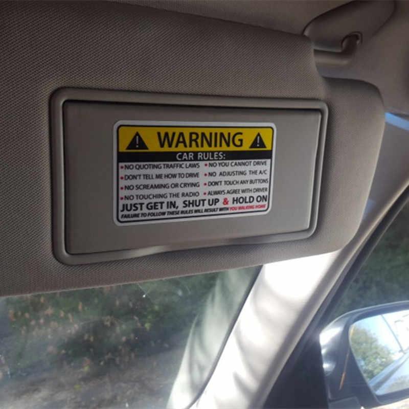 車の安全警告ルール Pvc 車のステッカー自動車スタイリングアクセサリーユニバーサル bmw VW アウディベンツフォード起亜オペルルノー Ram