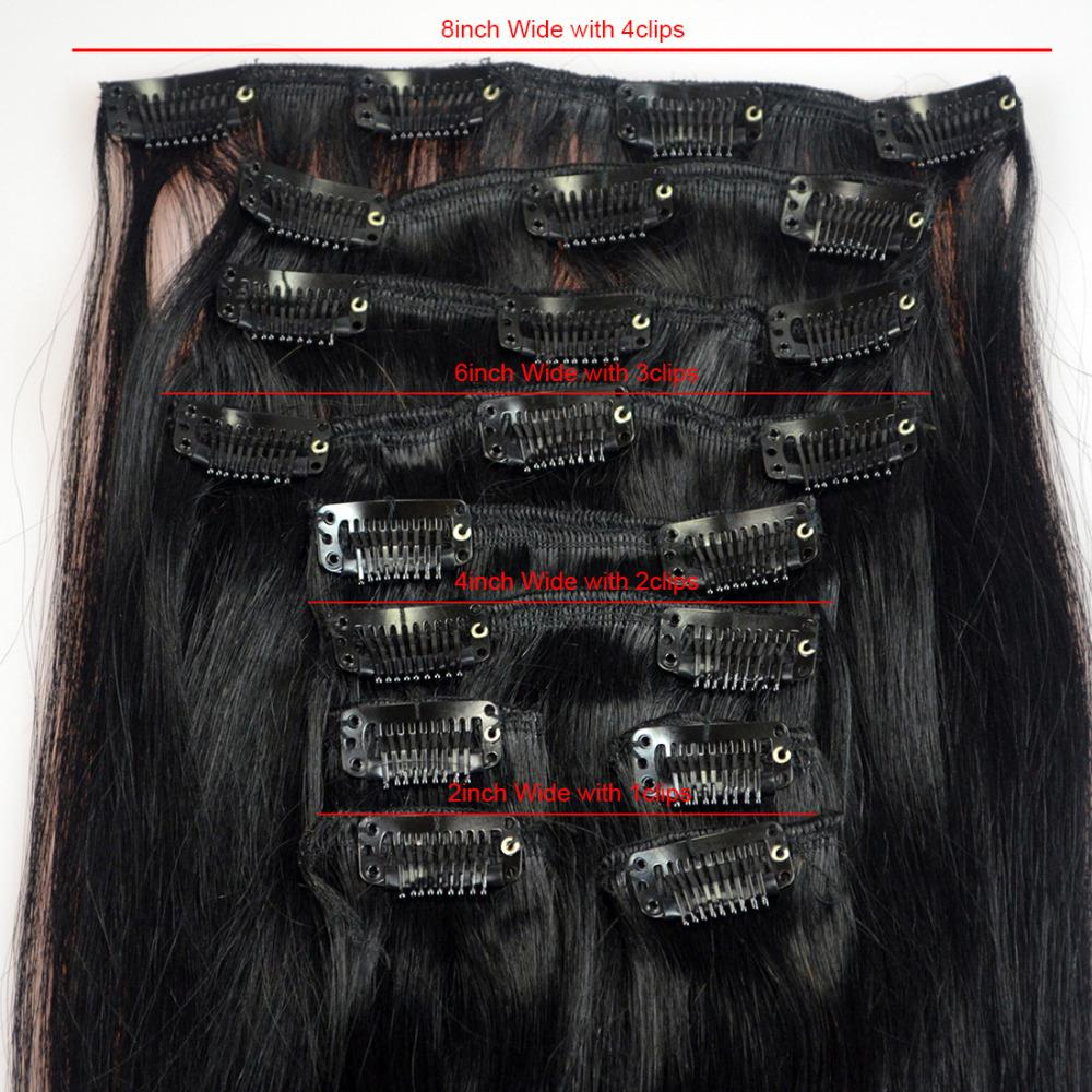 Remy AAA Clip In Hair 20″Long 10pcs 100g Clip In 100% Remy AAA Human Hair Extensions More Colors Brazilian Hair YJ Hair Product