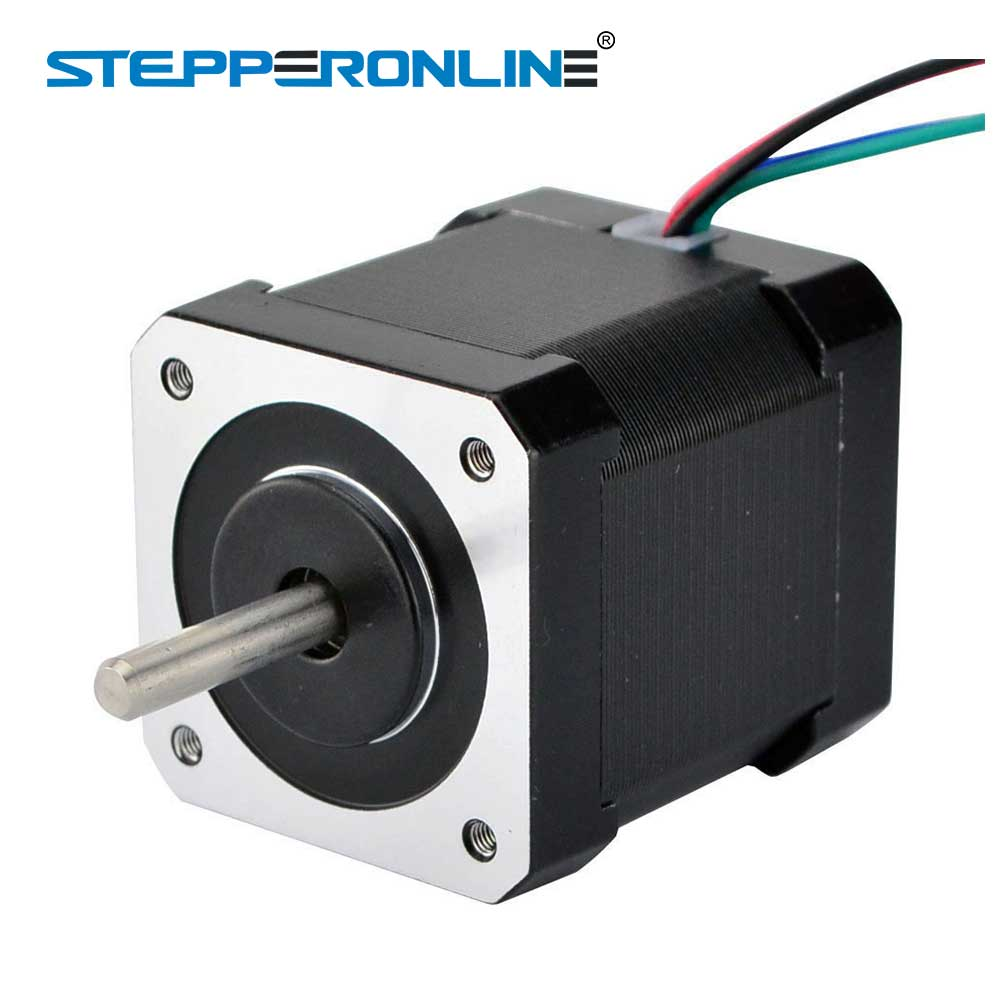 цена на Dual Shaft Nema 17 Stepper Motor 1.68A 45Ncm/64oz.in Nema17 Step 42 Motor 4-lead for DIY CNC 3D Printer