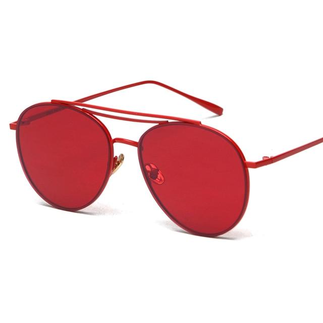 7c87c2f6a MAYEV lente vermelha óculos de sol masculino óculos de sol óculos de  armação de metal das