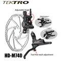 TEKTRO HD-M740 набор тормозов 293g/колеса MTB Гидравлический дисковый тормоз кованый алюминиевый двойной поршневой рычаг + суппорт для уверенного то...