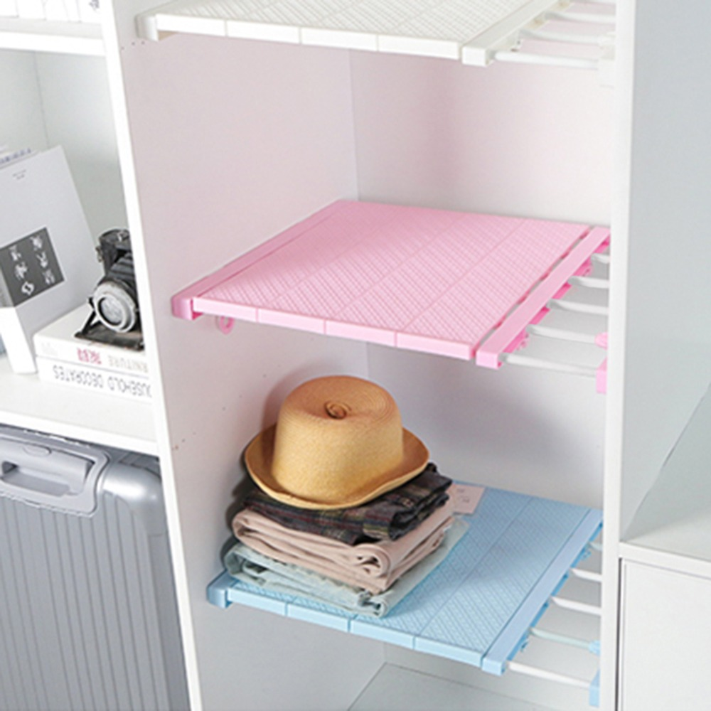 30kg Load-bearing Adjustable Closet Organizer Storage Shelf Wall Mounted Kitchen Rack Space Saving Wardrobe Cabinet Holder