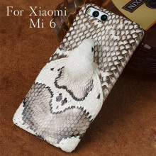 Brand genuine snake skin phone case For Xiaomi MI 6 back cover protective leather xiaomi redmi note 7