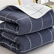 Фламинго С буквенным принтом 6 слоев марли хлопок кондиционер летнее одеяло мягкое одеяло лоскутное одеяло ing для взрослых детей постельные принадлежности