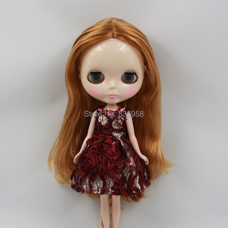Nude Doll For Series No.230BL331 BROWN HAIR nude doll for series no 2237 bronze hair
