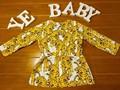 2016 OTOÑO INVIERNO de LA NIÑA ROPA NIÑAS VISTEN PARA LAS NIÑAS VETEMENT ENFANT BEBE FILLE BEBÉ TIGRE IMPRESOS VESTIDOS de AMARILLO 0-1 AÑO