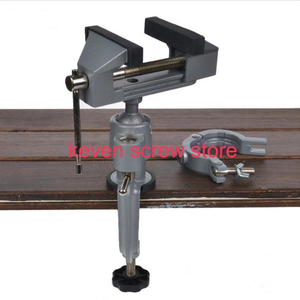 1pcs Mini 8003-2 2 In 1 Multifunction Table Vise Bench Vice Aluminium alloy 360 Degree Rotating Universal Clamp Units Vise цена