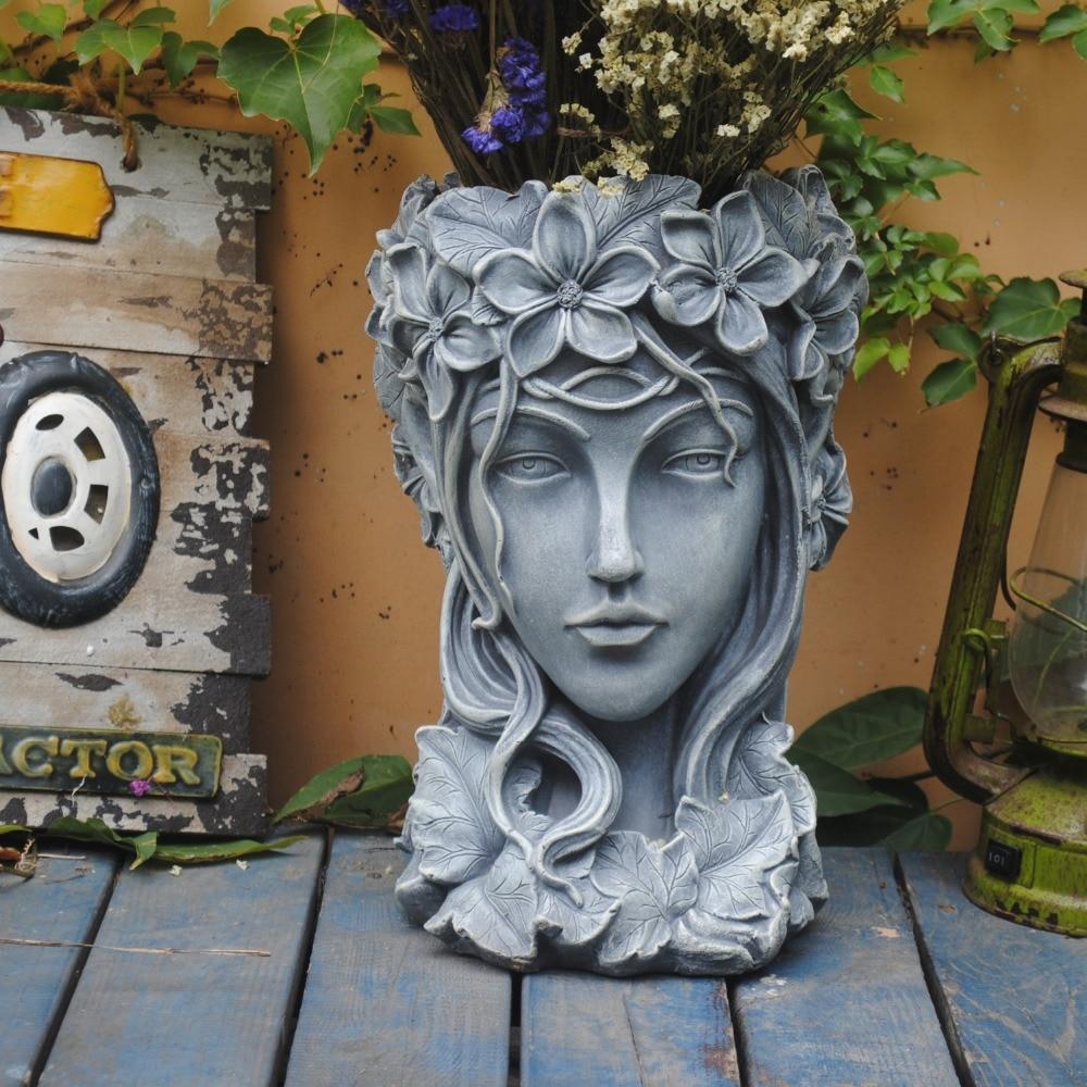 Göttin Kopf Blumentopf Griechischen Große Sukkulenten Große Kaliber Kreative Nordic Venus Vase Statue Balkon Von Einrichtungs Handwerk Kunst-in Vasen aus Heim und Garten bei  Gruppe 1
