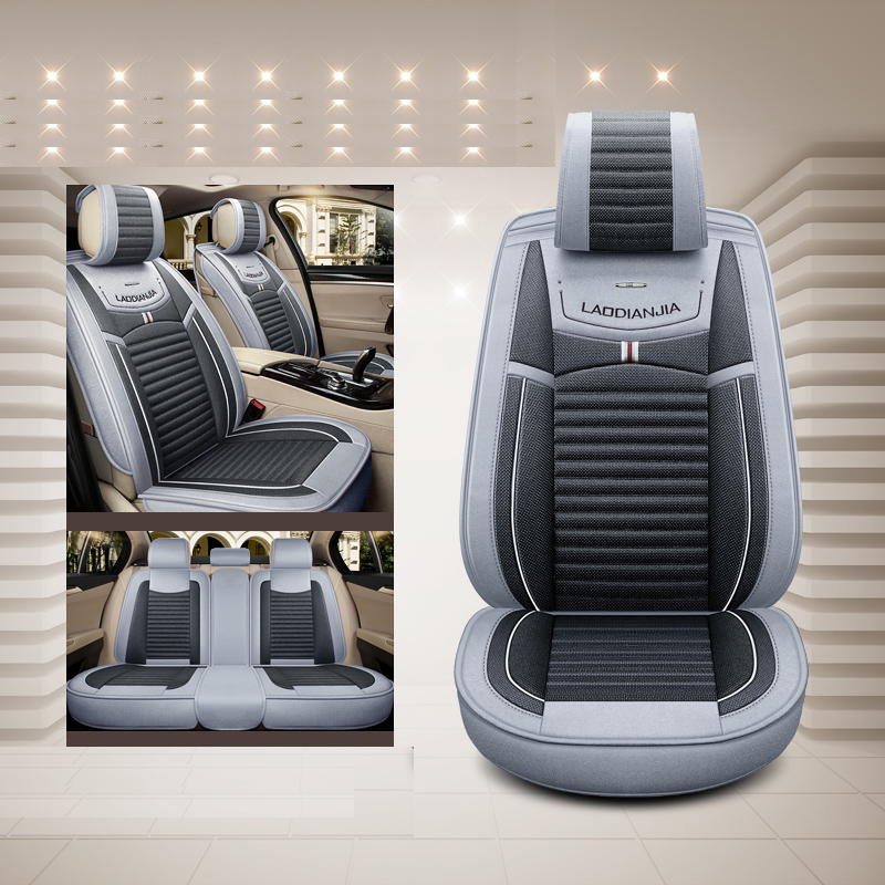 Car Seat Cover Flax universal seat cushion Car Styling For Ford mondeo Focus 2 3 kuga