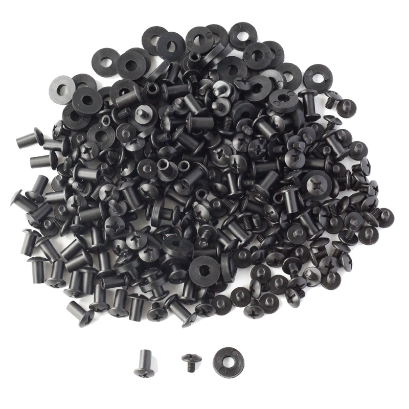 100 Sets Black Cross Head Chicago Screws Rubber Washers Custom Kydex Gun Knife Holsters Mounting Hardware Assembly цена