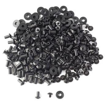 100 zestawów czarny krzyż głowy Chicago śruby podkładki gumowe niestandardowe Kydex pistolet nóż kabury elementy montażowe montaż tanie i dobre opinie QingGear Obróbka metali B0042x100-35 Zestawy nakrętki i śruby