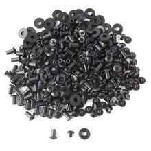 100 комплектов, черные винты с перекрестной головкой, резиновые шайбы, изготовление на заказ, кобуры для ножей Kydex, монтажная фурнитура в сборе