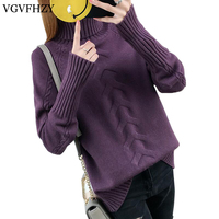 High Quality Women Sweater 2017 New Turtleneck Pullover Winter Tops Solid Cashmere Sweater Autumn Female Sweater