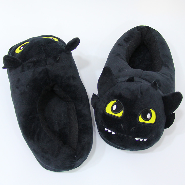 Anime Cartoon How to Train Your Dragon Toothless Home Plush Slippers House Winter Indoor Shoes Soft Stuffed Toys AP0714