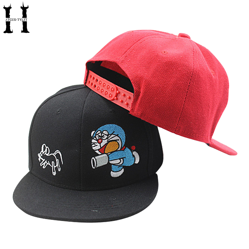 HATGUD TYLZT New Fashion Korea Style Cartoon Embroidery DORAEMON Boys Snapback Cap Baseball Caps Children Hip-hop Hats