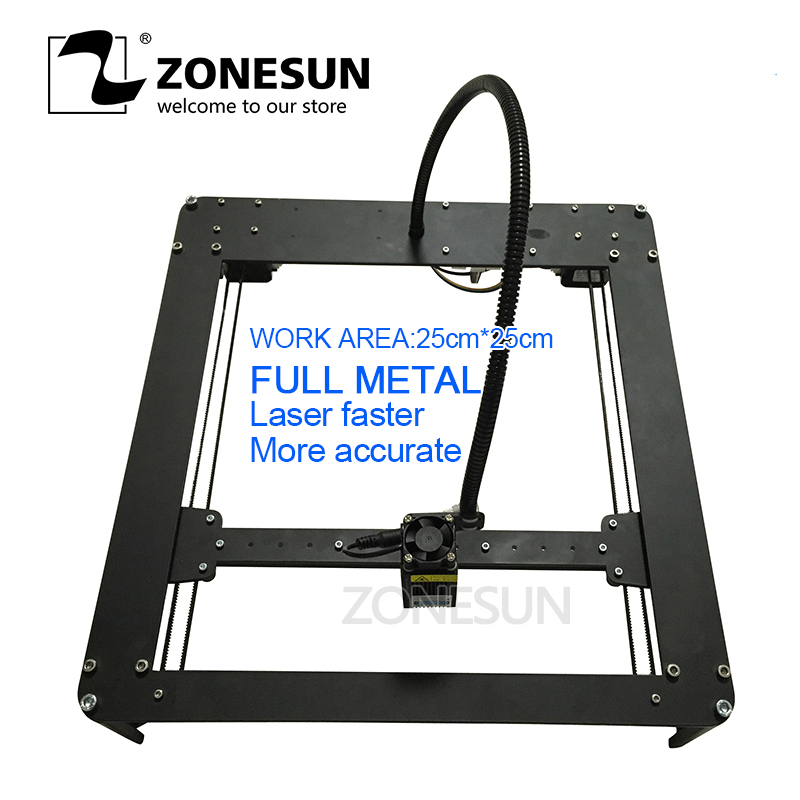 цена на FULL METAL New Listing 2500mw Mini DIY Laser Engraving Engraver Machine Laser Printer Marking Machine,laser fasrer,more accurate