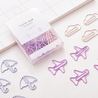 120PCS/lot Cartoon Shape Mini Paper Clips Kawaii Stationery Clear Binder Clips Photos Tickets Notes Letter Paper Clip Stationery